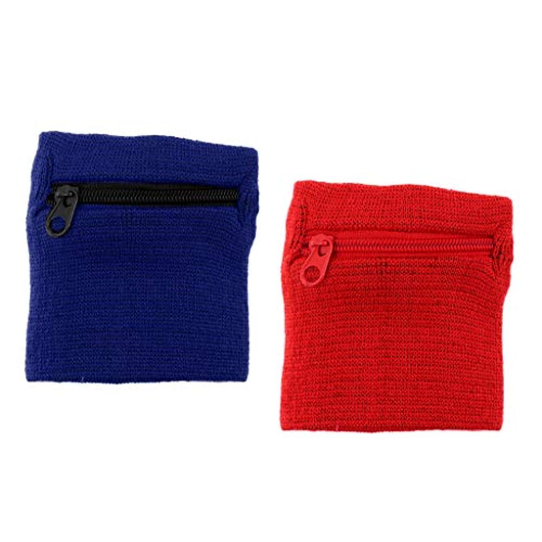 ただ治世ボンドPerfeclan 2本 スポーツ フィットネス リストバンド スウェットバンド 財布ジッパーポケット