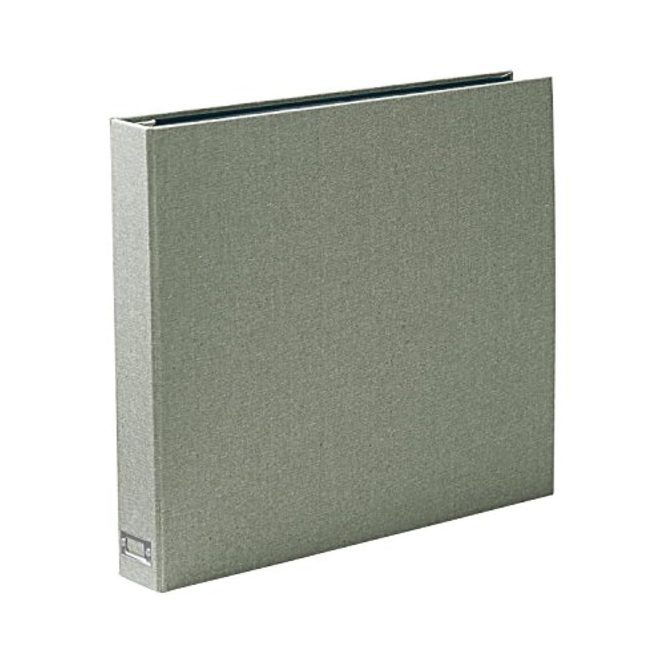パイルビクターぎこちない[ベルメゾン] アルバム 大容量 600枚 ポケット式 布 表紙 写真入れ はがき収納 黒台紙 生地張り表紙 グリーン