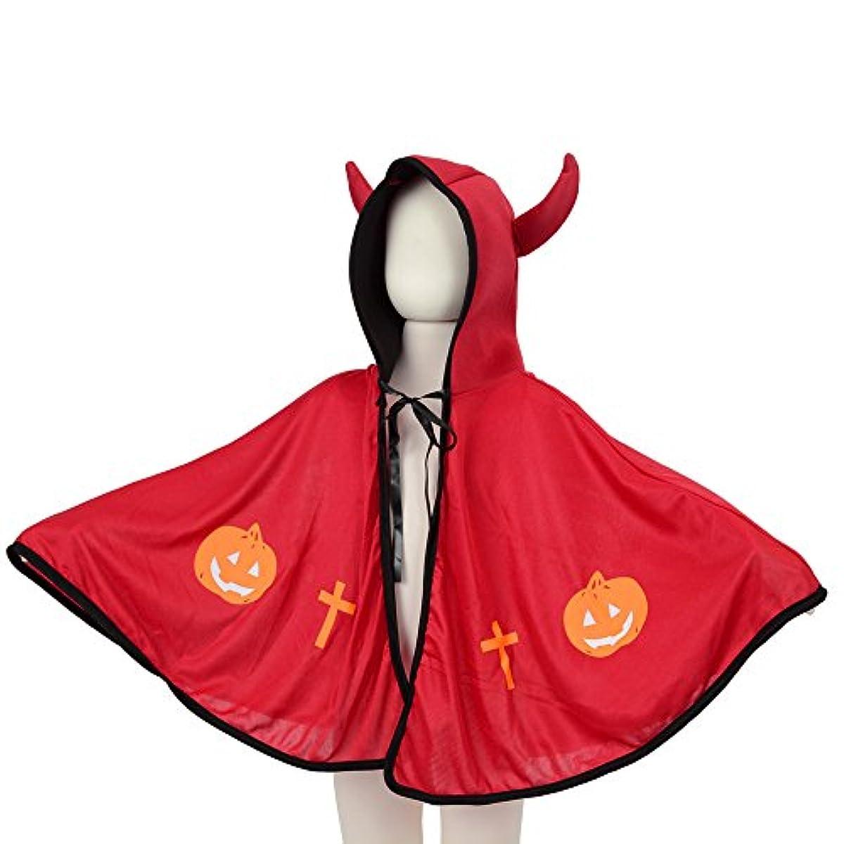 クラック泣き叫ぶうるさいキッズマント デビルマント ハロウィン仮装 赤 子供用 中国製