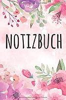 Notizbuch: Notizbuch A5 120 Seiten mit Punkt Raster und Wasserfarben Blumen Muster (Softcover, glaenzend).