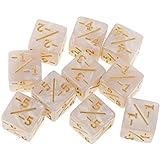 Sharplace 樹脂 6面ダイス 数学教授 分数スキル補助 サイコロ 分数ダイス 全3選択 - 白