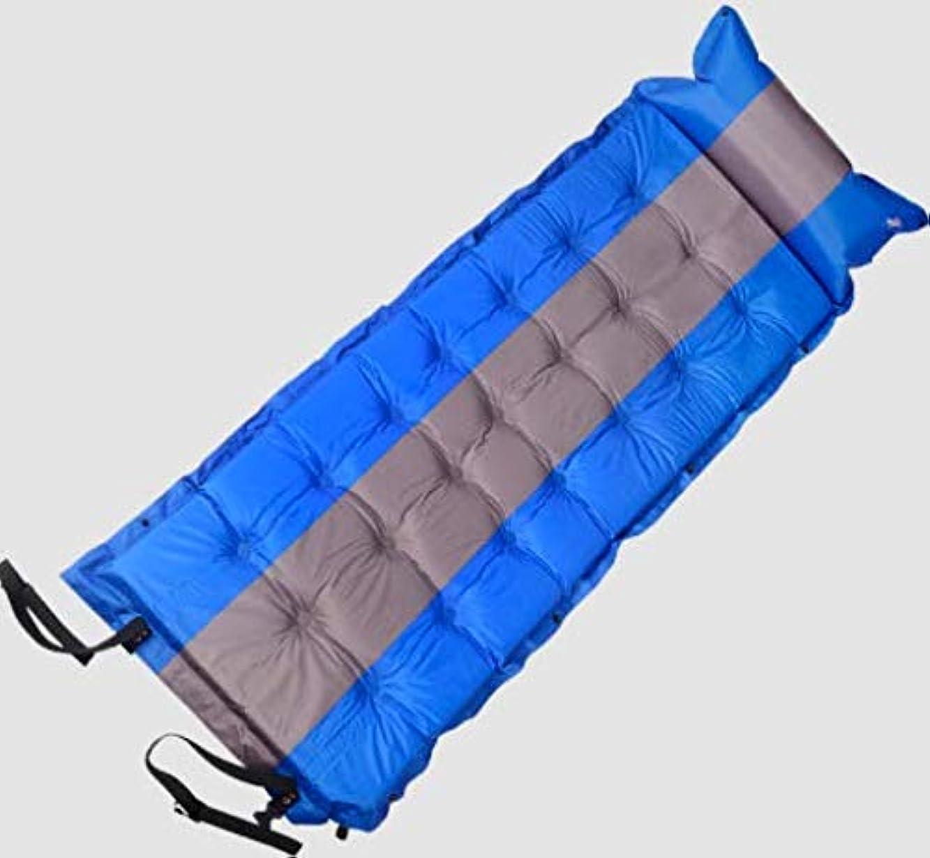 交差点控える不均一屋外インフレータブルクッション厚い防水キャンプテント湿気パッドシングルスリーピングパッドを接合することができます
