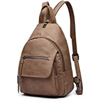 Women Backpack Purse, Small Shoulder Bag Lightweight School Travel PU Leather Purse with Adjustable Shoulder Strap