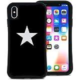 WAYLLY(ウェイリー) iPhone XS Max ケース アイフォンXS MAXケース くっつくケース 着せ替え 耐衝撃 米軍MIL規格 [スター ブラック×ホワイト] MK