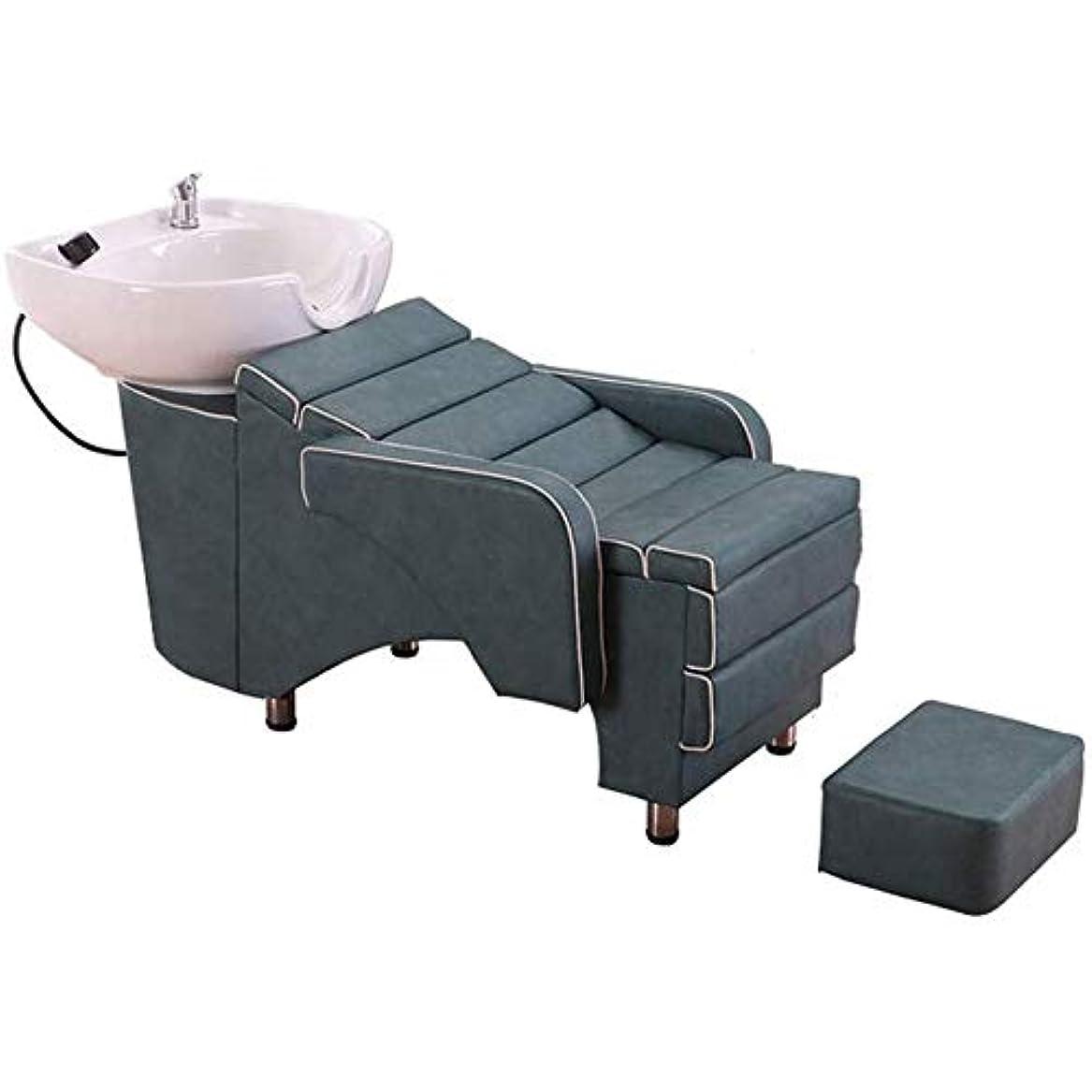 赤面脇に認可シャンプー理容室逆洗椅子、逆洗ユニットシャンプーボウル理髪シンク椅子用スパビューティーサロン機器理髪店専用