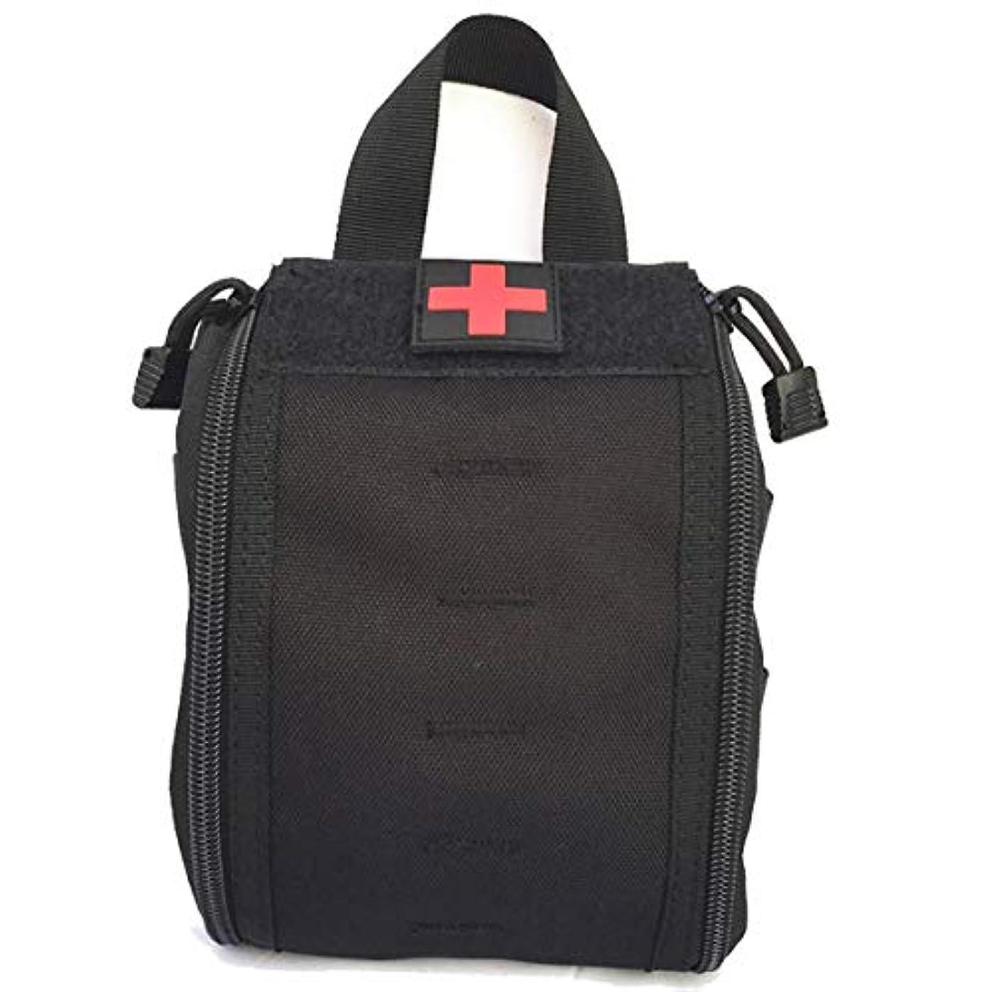パーティション思われる辞任する医療バッグ車の迷彩ファーストエイドキットモール多機能アウトドアアクセサリーバッグ,黒