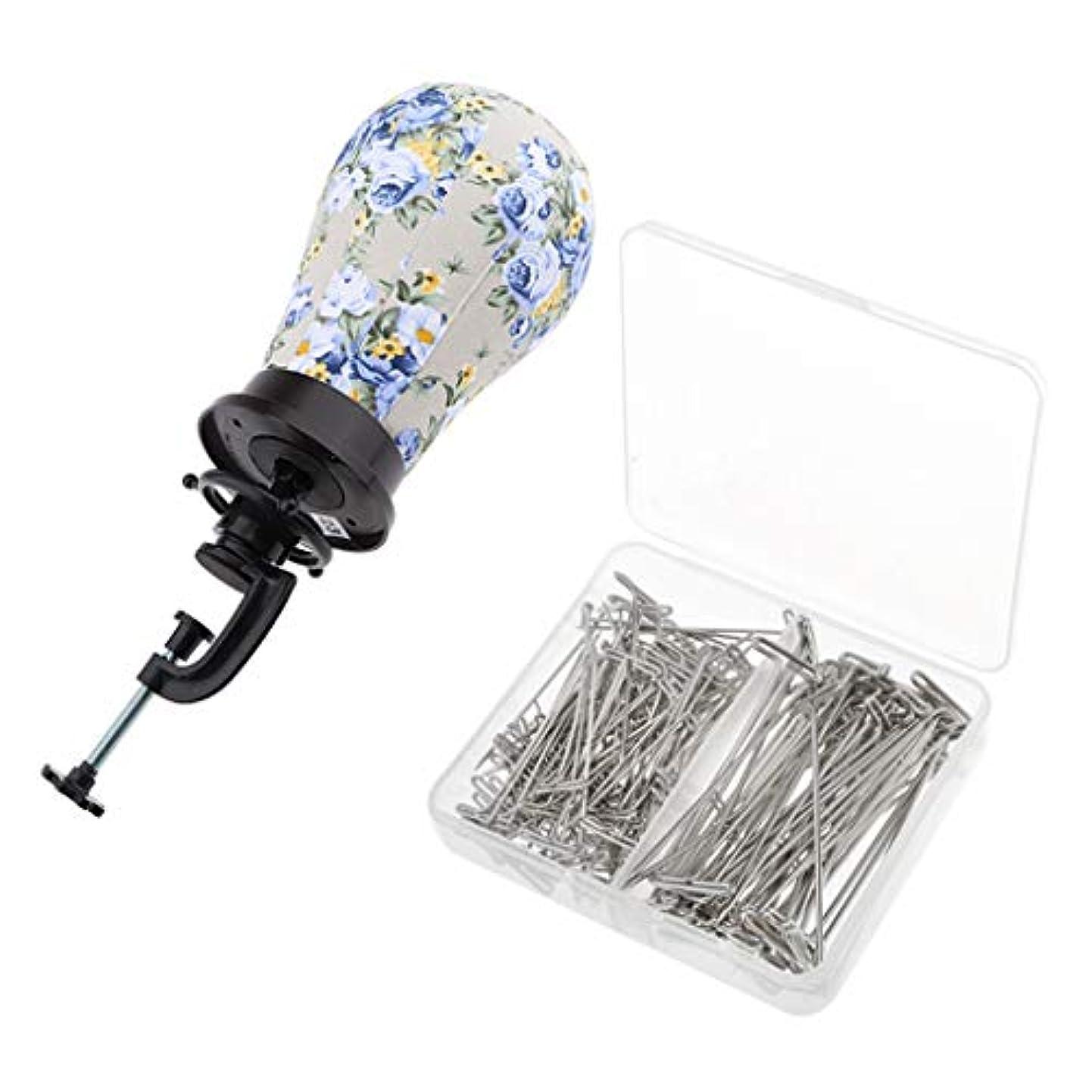 測定可能変装パークマネキンヘッド ディスプレイ ホルダークランプ Tピン 帽子 サングラス 眼鏡 ヘッドフォン