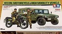 陸上自衛隊 タミヤ 1/35 偵察用 オートバイ 高機動車 未組立