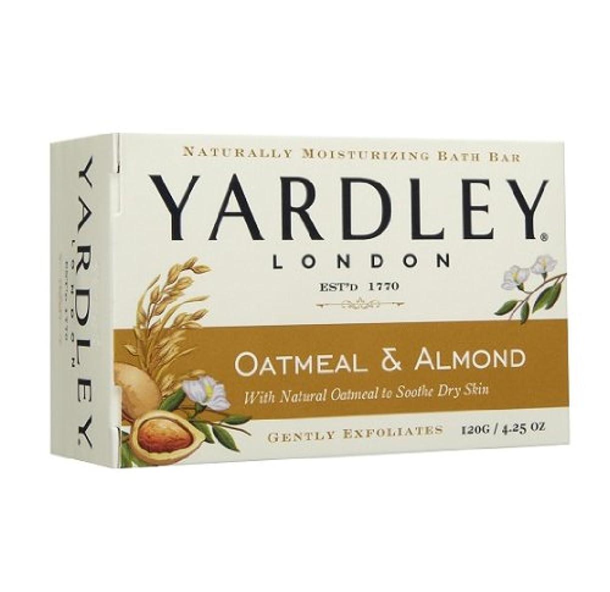 適合レイプ紳士【2個:ハワイ直送品】Yardley London Oatmean & Almond Moisturizing Bath Bar ヤードリー オートミール&アーモンド ソープ 120g