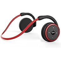 LEVIN 2018 新版 Bluetooth イヤホン 4.2 [メーカー1年保証] 軽量 圧迫感なし スポーツ防汗仕様 低音重視 10時間連続再生 ハンズフリー通話可能CSR8635チップ搭載Marathon(レッド)