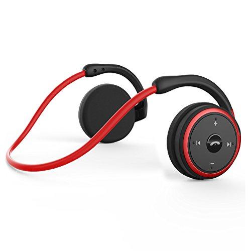 LEVIN 2018 新版 Bluetooth イヤホン 4.2 CSR8635チップ搭載 防汗仕様 スポーツ ハンズフリー通話可能 Siri対応Marathon (レッド)