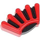 1st market 丈夫なヘア編組ツール織りスポンジ編みヘアツイストヘアスタイリングブレイダーdiyアクセサリーヘアツイストスタイリングパン、赤
