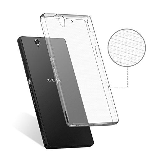 XPERIA Z Crystal Air Case 0.3mm 極薄 スリムエアーケース [ docomo SO-02E エクスペリアZ SIMフリー 対応 ] ソフトTPU材質 ロゴが透けて見える 軽量モデル【Ultra Slim Clear (スリムクリア)】