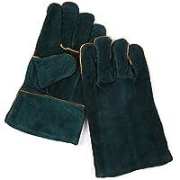 耐熱手袋 保護手袋 アウトドアー セミロング 牛革 耐熱グローブ BBQ 火起こし ダッチオーブン 暖炉 まきストーブ レザー 手袋
