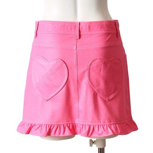 ブルークラッシュ 裾フリルハートポケットスカート (Lサイズ, ピンク)