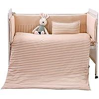 Rart 無衝突赤ちゃんベビーベッド バンパー,綿リバーシブル ベビー寝具セット,バンパーのすべてのラウンド ユニセックス パッド入りベビーベッド バンパー-防止アレルギー-A 110x60cm(43x24inch)