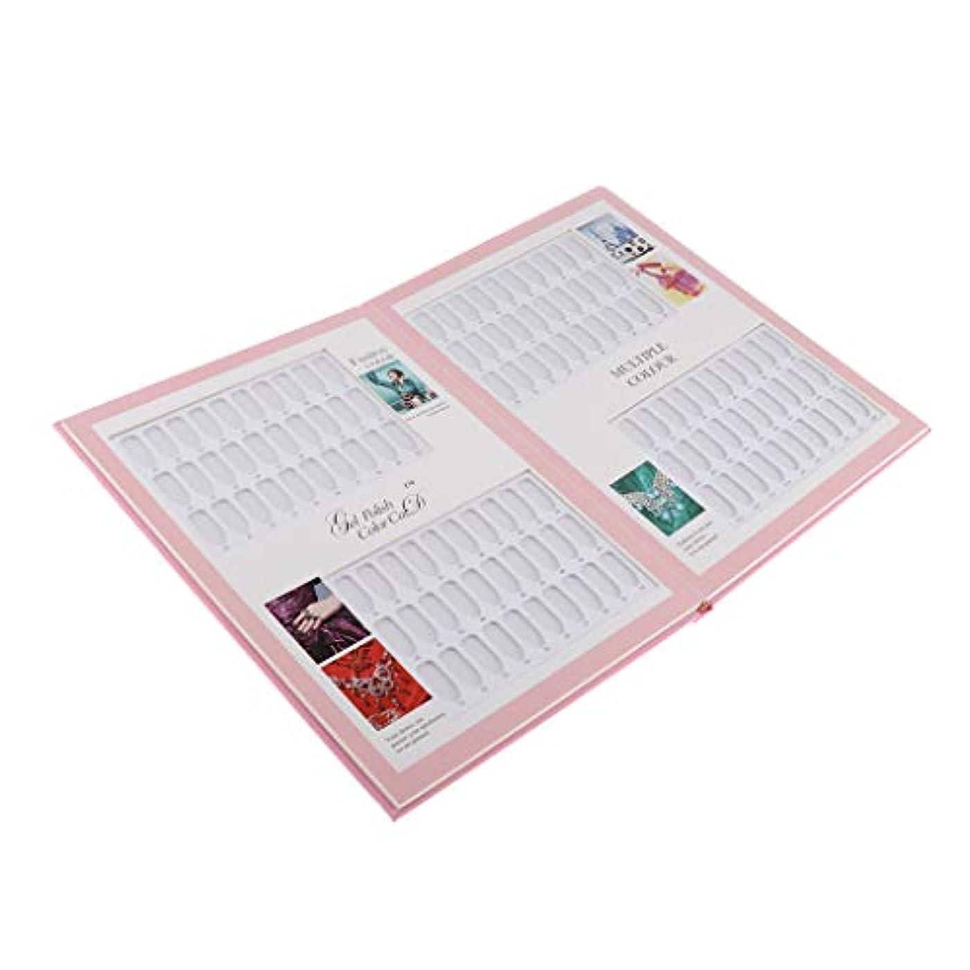 神聖共同選択バケットPerfeclan ネイルカラーガイド ネイルアート マニキュア色見本 ネイルカラーカードブック ネイルディスプレイ ピンク - 06