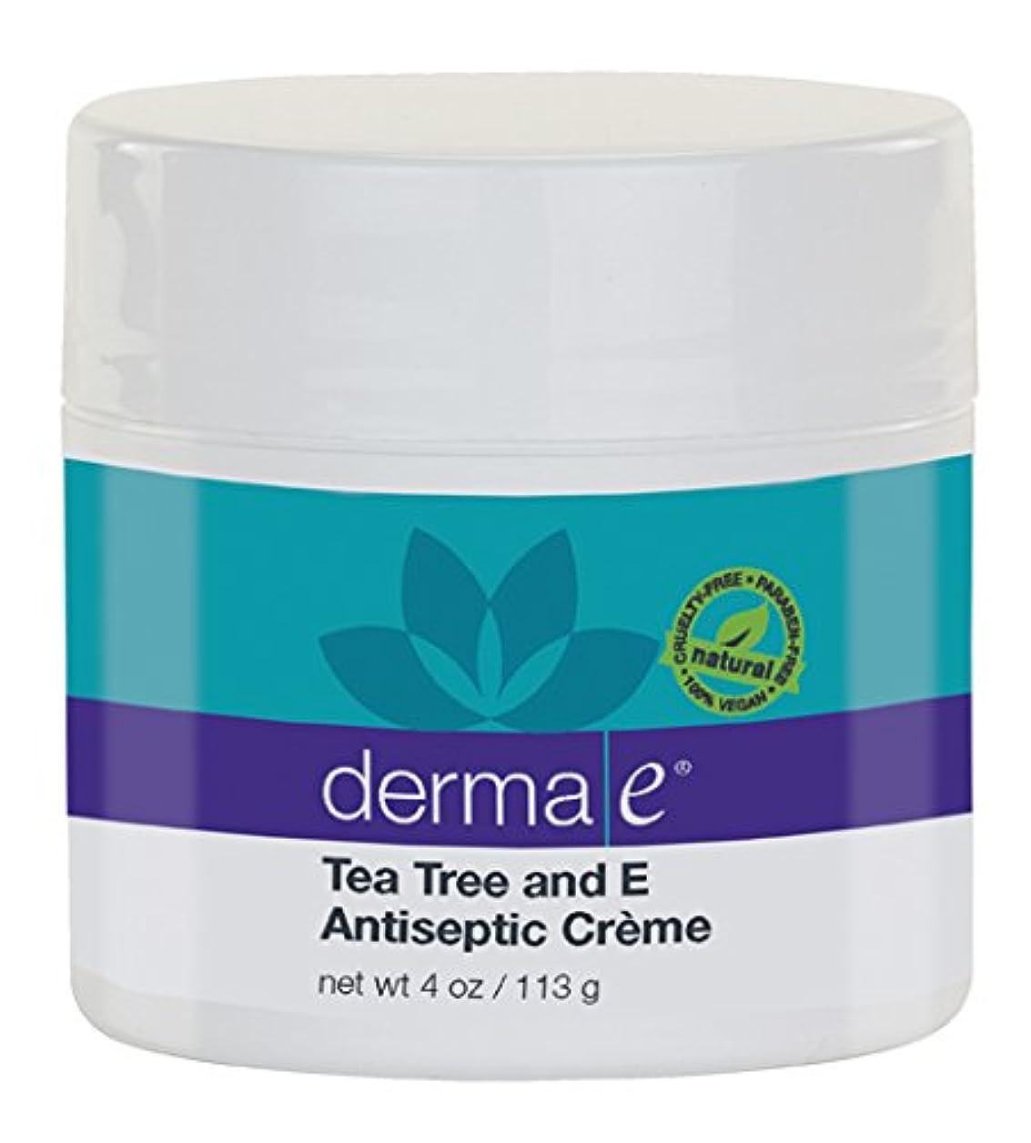 小間スコア献身Derma E Therapeutic Tea Tree & Vitamin E Antiseptic Cream 113g/4oz並行輸入品