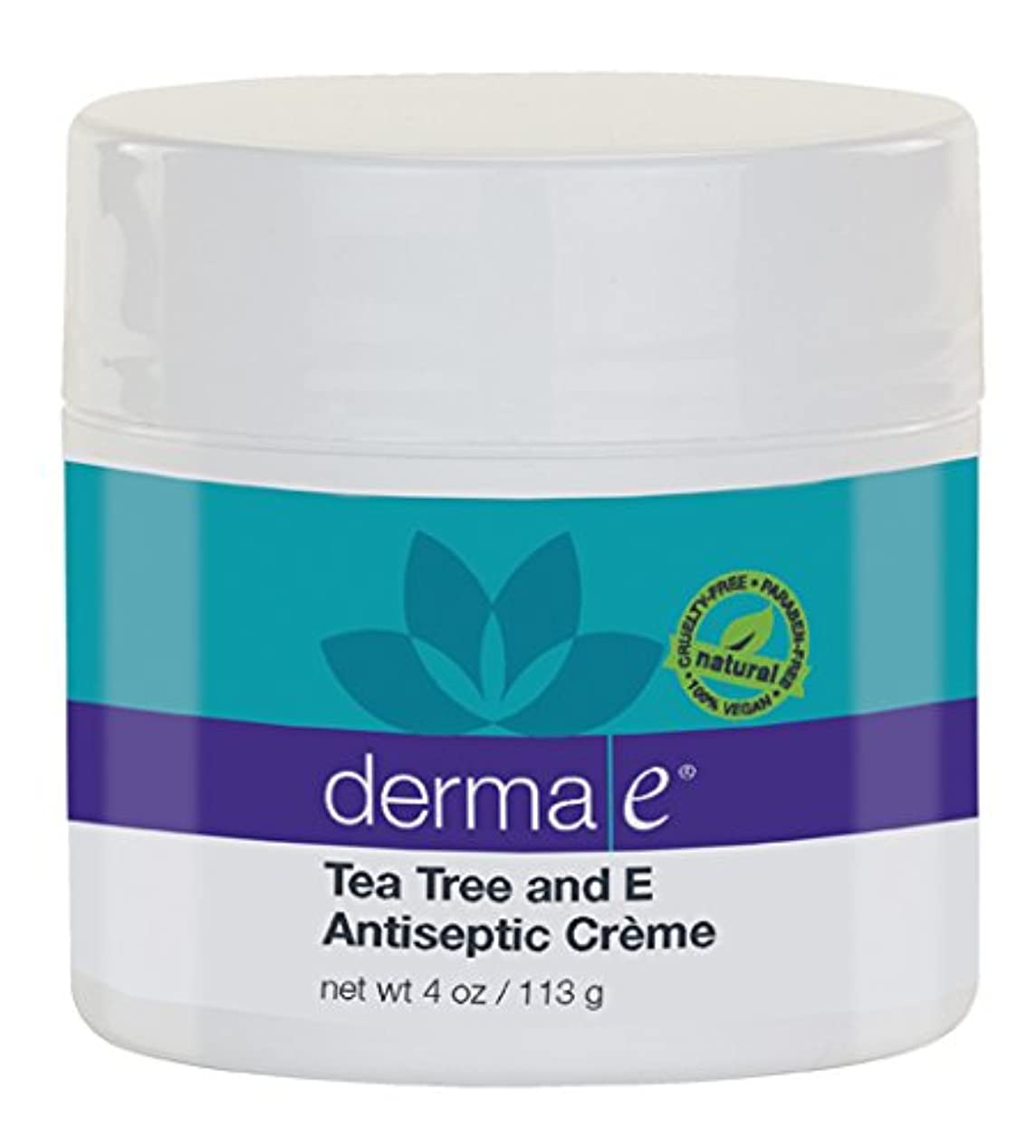 絶滅した蚊もDerma E Therapeutic Tea Tree & Vitamin E Antiseptic Cream 113g/4oz並行輸入品