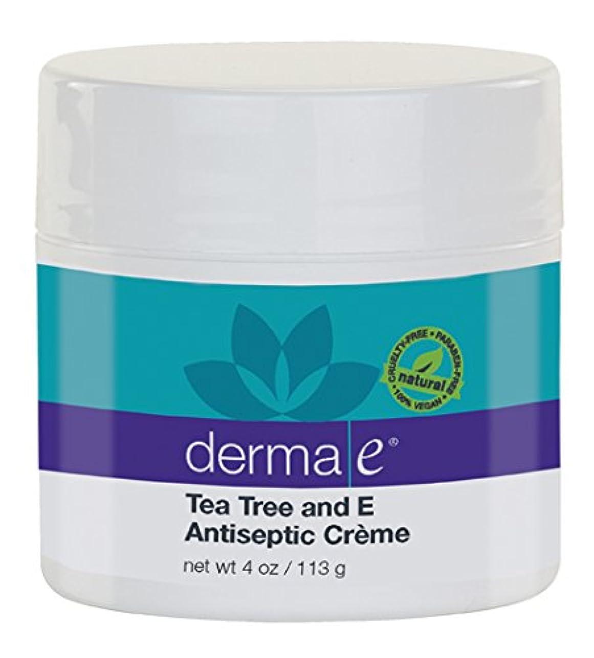 キャンプ征服するオーナメントDerma E Therapeutic Tea Tree & Vitamin E Antiseptic Cream 113g/4oz並行輸入品