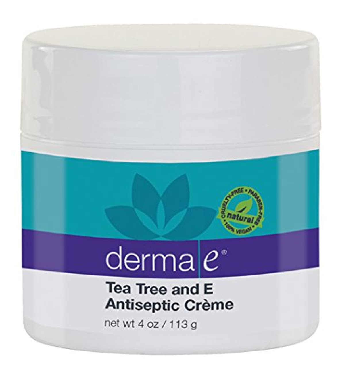 出撃者明確にカリキュラムDerma E Therapeutic Tea Tree & Vitamin E Antiseptic Cream 113g/4oz並行輸入品