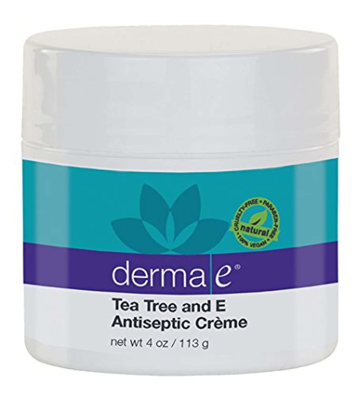継続中幹開示するDerma E Therapeutic Tea Tree & Vitamin E Antiseptic Cream 113g/4oz並行輸入品