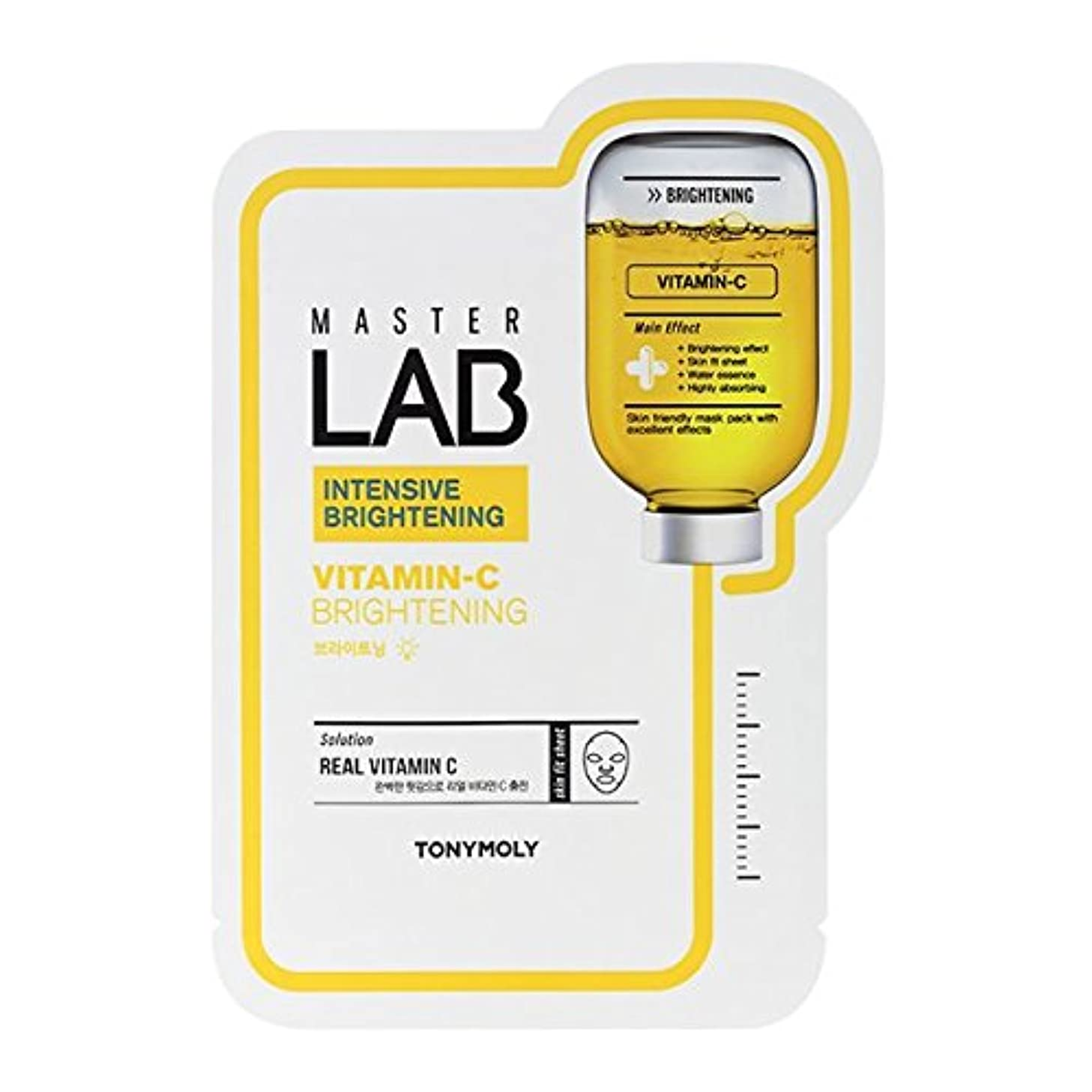 化学者パウダーにじみ出るTONYMOLY Master Lab Mask Vitamin C (Brightening) (並行輸入品)