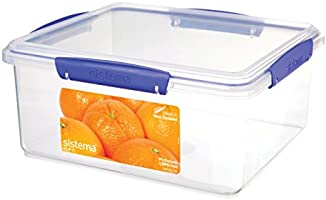 Sistema Klip It Rectangle Food Storage Container, Clear