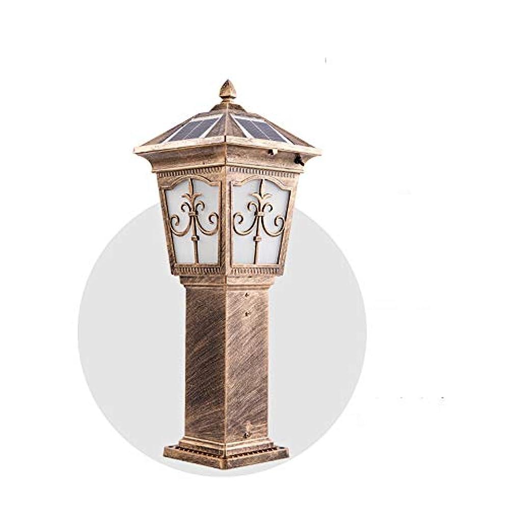 国勢調査フィラデルフィアフラスコPinjeer ソーラー2色調光led真鍮屋外防水コラムライトヨーロッパヴィンテージアルミガラスポストライト庭の芝生風景装飾照明柱ランプ (サイズ : Height 62cm)