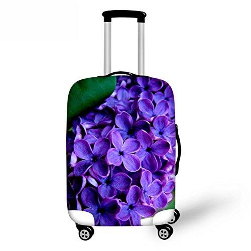 FOR U DESIGNS(JP) スーツケースカバー 伸縮性あり Lサイズ 紫
