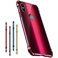 d220200d47 apple iPhone XS アルミ バンパー ケース/カバー 背面カバー付き かっこいい スリム 軽量 ...