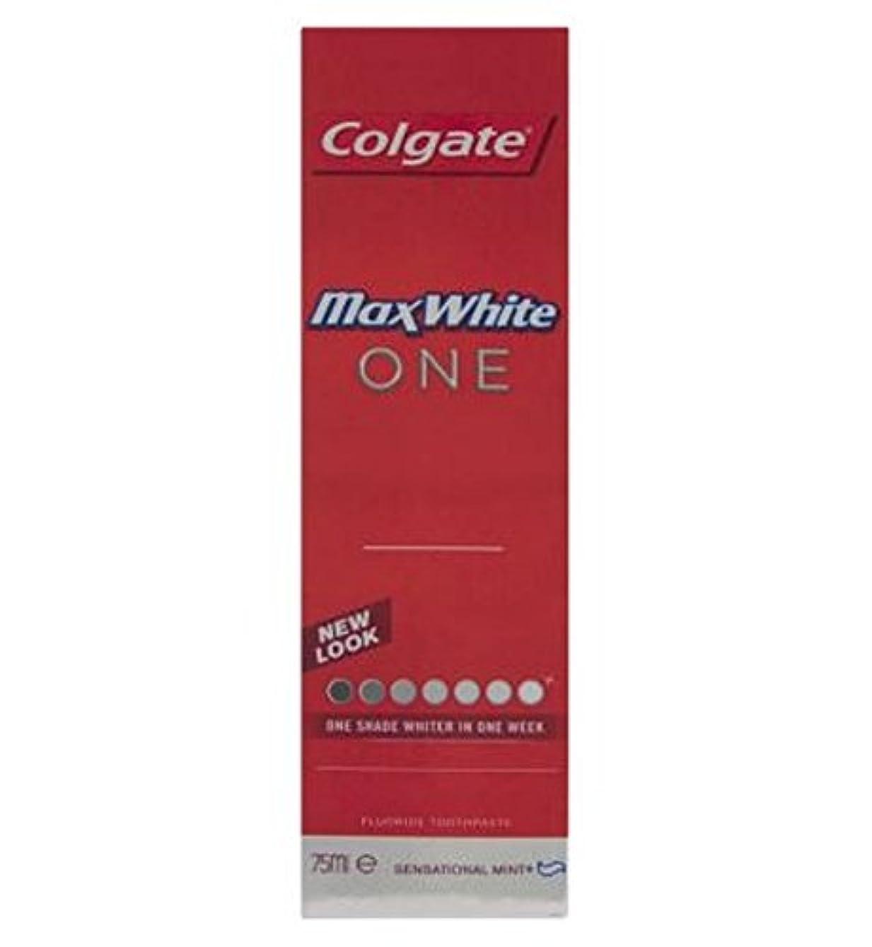 別れる批判的歌詞コルゲートマックスホワイト1新鮮な歯磨き粉75ミリリットル (Colgate) (x2) - Colgate Max White One Fresh toothpaste 75ml (Pack of 2) [並行輸入品]