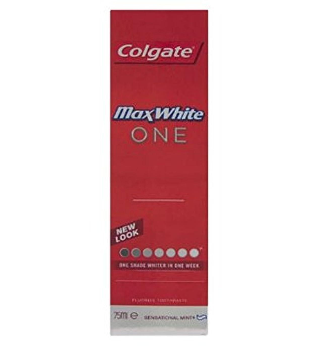 家庭中絶溶かすColgate Max White One Fresh toothpaste 75ml - コルゲートマックスホワイト1新鮮な歯磨き粉75ミリリットル (Colgate) [並行輸入品]