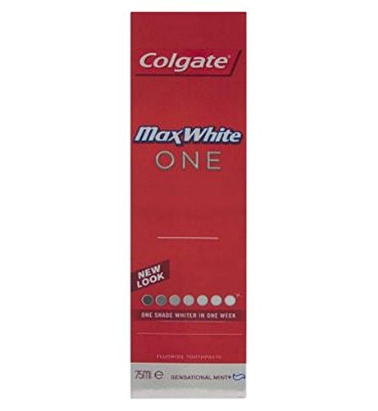キャンドル換気チーフコルゲートマックスホワイト1新鮮な歯磨き粉75ミリリットル (Colgate) (x2) - Colgate Max White One Fresh toothpaste 75ml (Pack of 2) [並行輸入品]