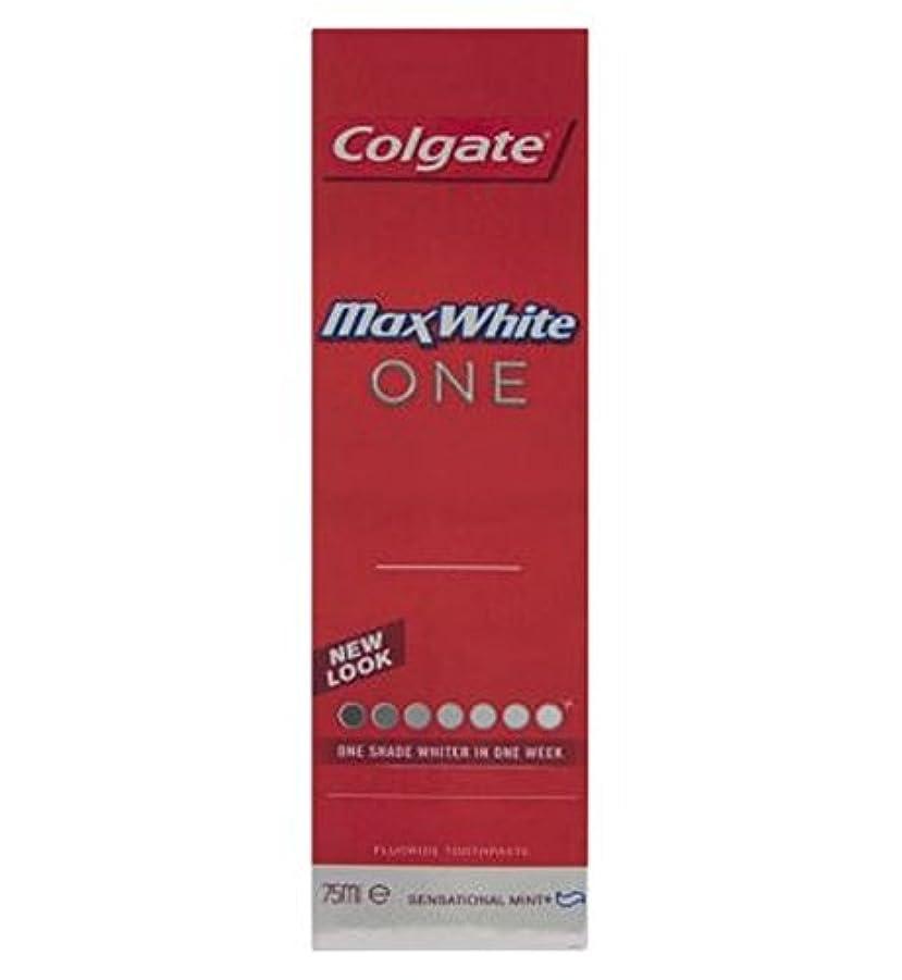 消すプレート疾患Colgate Max White One Fresh toothpaste 75ml - コルゲートマックスホワイト1新鮮な歯磨き粉75ミリリットル (Colgate) [並行輸入品]