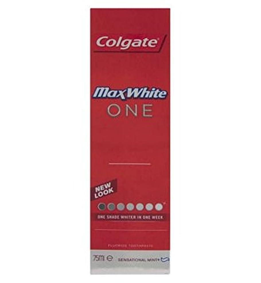 貞ガム歌コルゲートマックスホワイト1新鮮な歯磨き粉75ミリリットル (Colgate) (x2) - Colgate Max White One Fresh toothpaste 75ml (Pack of 2) [並行輸入品]