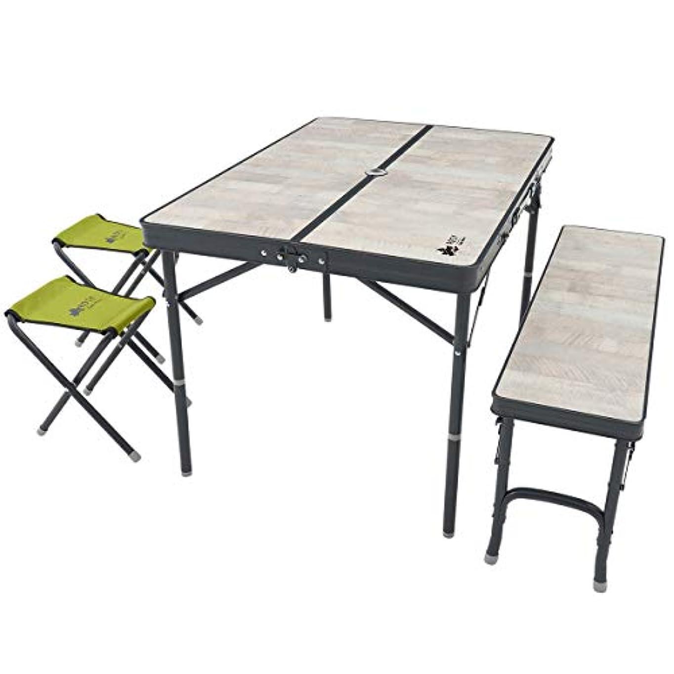 使い込む時間天才ロゴス(LOGOS) ROSY ファミリーベンチテーブルセット 73189057