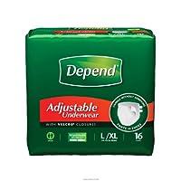 Depend Adjustable Underwear, Maximum Absorbency, Depend Rfst Undwr Lg-Xlg, (1 CASE, 64 EACH) by Kimberly-Clark