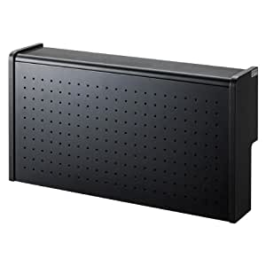サンワサプライ ケーブル&タップ収納ボックス ブラック CB-BOXS6BK