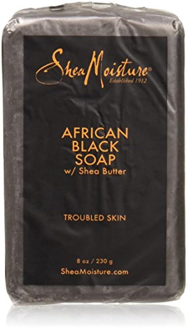 絶縁するシンポジウム魔術Shea Moisture - シアバターが付いているアフリカの黒い棒石鹸 - 8ポンド
