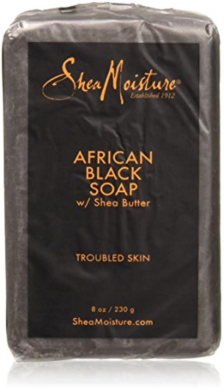 ヒープブロックアスペクトShea Moisture - シアバターが付いているアフリカの黒い棒石鹸 - 8ポンド