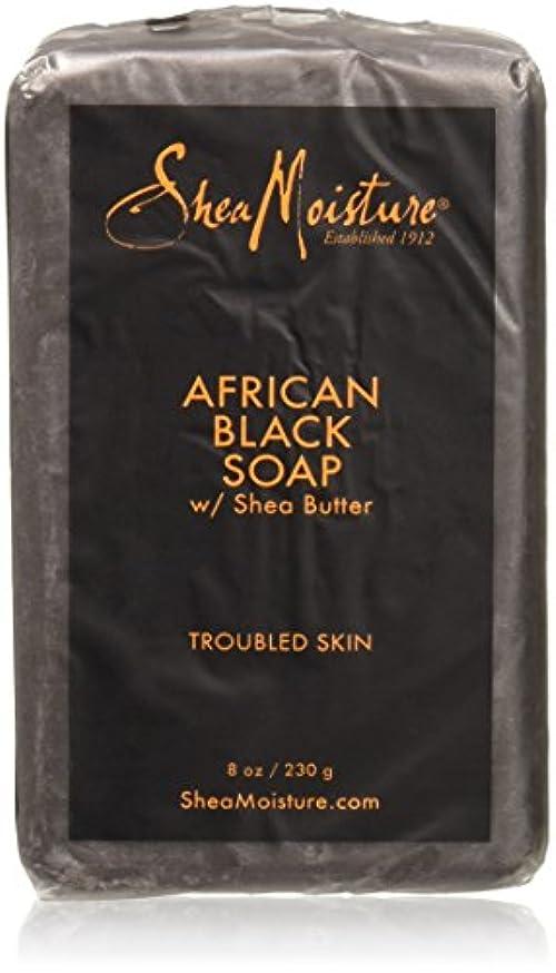 平手打ち貢献する傑出したShea Moisture - シアバターが付いているアフリカの黒い棒石鹸 - 8ポンド