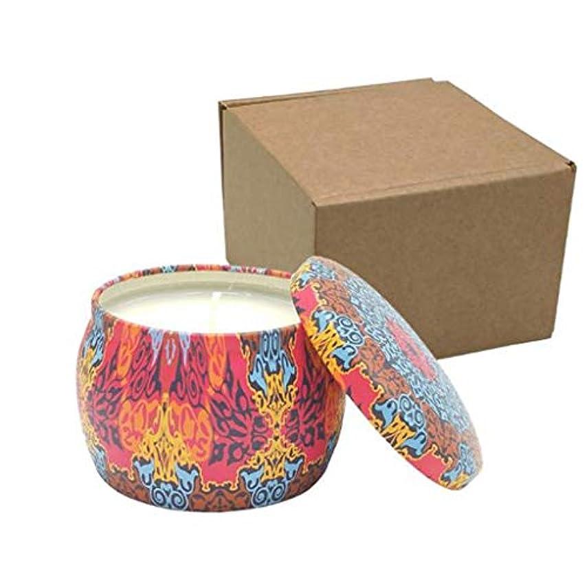 実際に大いに検証キャンドル、ブリキの無煙環境に優しい香りのキャンドル、天然香料入り大豆キャンドルのブリキ缶、なだめるような香り付きキャンドル4個セット (Color : B)