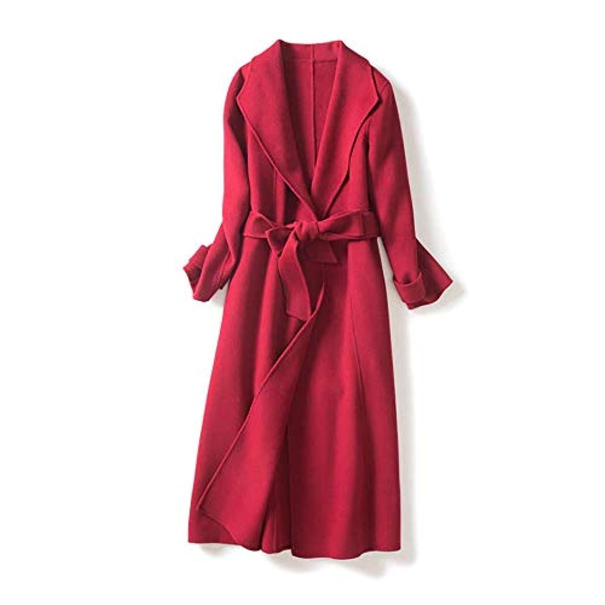 すずめ暴力的な囲まれたNew Woolen Coat、Women's Double-Faced Coat Australian Wool 2019 Autumn And Winter New Woolen Coat Women's Coats Womens Windbreaker Jackets,S