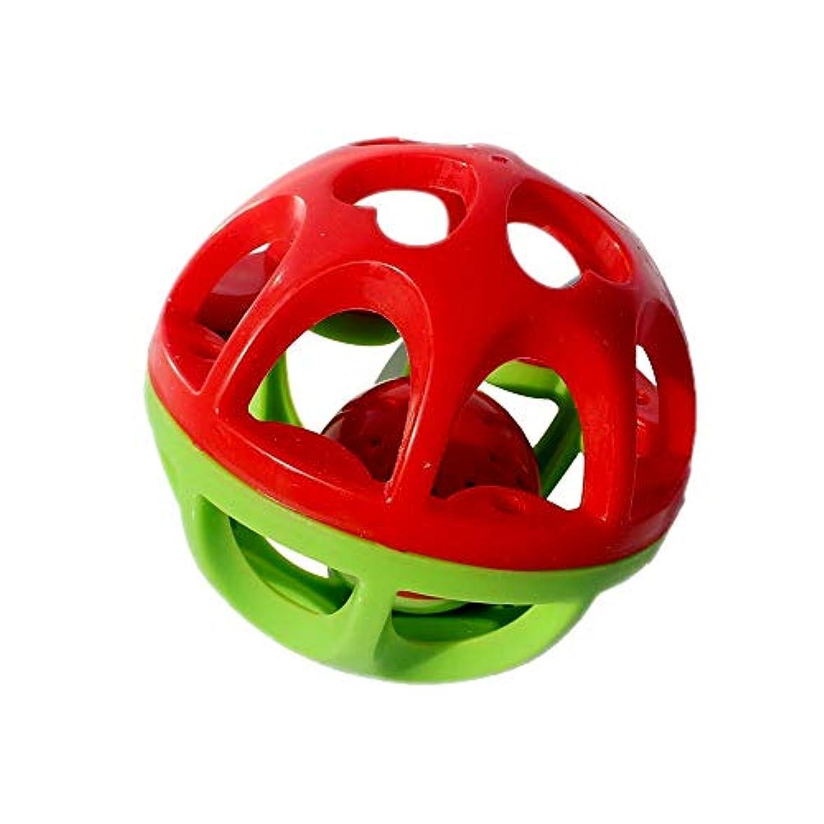 なしで雰囲気バイオリン知恵おもちゃ テクスチャマルチボールベビーハンドラトルボール幼児教材パズルソフトボール赤ちゃんのおもちゃのタッチボールのおもちゃ 新生児 ベビー 子供 こども (Color : Red, Size : One size)