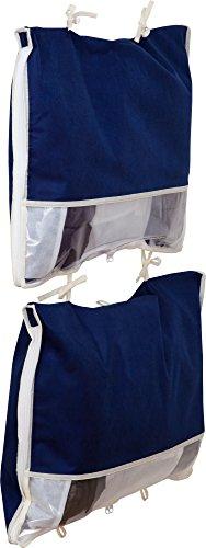 アストロ ダウン収納ケース 2枚組 紺 ダウンジャケットを薄く収納 通気性の良い不織布製 177-15