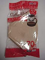 Daisoコーヒーフィルタ用紙–[ 4–7カップカップのCoffer ]ブラウン70ピース