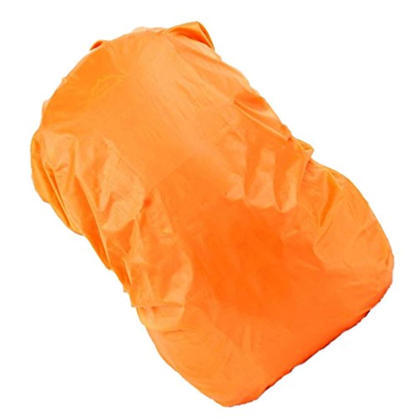 勝利した防止申し立てる【ノーブランド 品】防水 旅行 キャンプ ハイキング バックパック ダスト レインカバー 30L-40L 全8色選べる - オレンジ