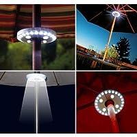 FidgetGear テラス傘ライトワイヤレス3照明モード28 LEDポールライトキャンプテント