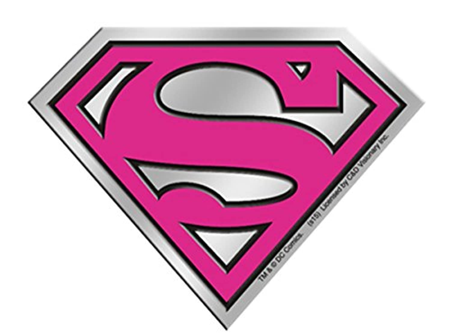 Licences Products DC Comics Originals Supergirl Logo 6cm Silver Metal Sticker